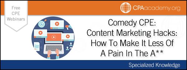 Contentmarketing comedycpe